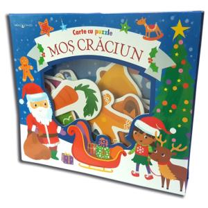Moș Crăciun. Carte cu puzzle. Bebe învață