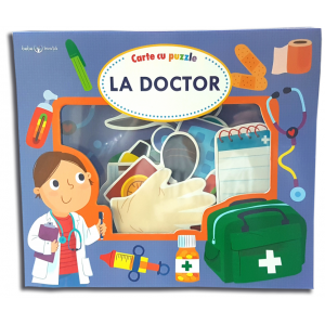La doctor. Carte cu puzzle. Bebe învață