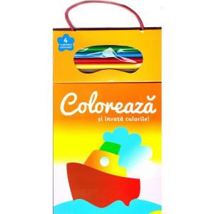 Colorează și învață culorile! 1 (+4 creioane)