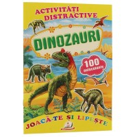 Dinozauri + 100 autocolante – Joacă-te și lipește