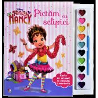 Disney. Fancy Nancy. Pictăm cu sclipici. Carte de colorat cu pensulă și acuarele