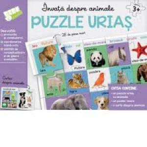 Învață despre animale. Puzzle uriaș - 28 de piese mari
