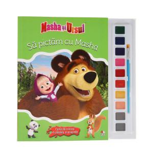 Masha și Ursul. Să pictăm aventurile Mashei. Carte cu acuarele