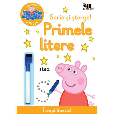 Peppa Pig: Exersează cu Peppa. Scrie și șterge! Primele litere