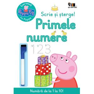 Peppa Pig: Exersează cu Peppa. Scrie și șterge! Primele numere