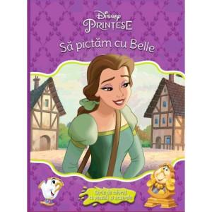 Frumoasa și bestia. Să pictăm cu Belle. Carte cu pensulă și 10 acuarele