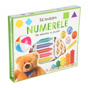Să învățăm numerele. Set educativ cu puzzle