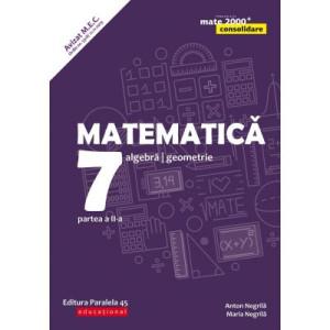 Matematică. Algebră, geometrie. Clasa a VII-a. Consolidare. Partea a II-a (anul școlar 2019-2020)
