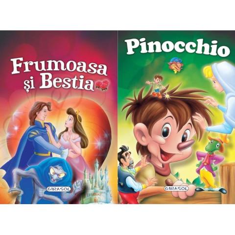 2 Povești: Frumoasa și Bestia și Pinocchio