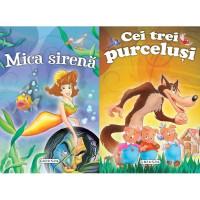 2 Povești: Mica sirenă și Cei trei purceluși