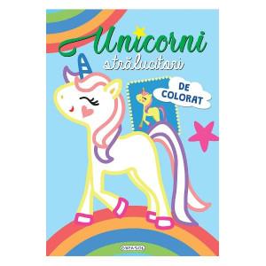 Unicorni strălucitori de colorat: Bleu