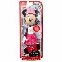 Păpușa Minnie Mouse cu fundiță roz, 24 cm