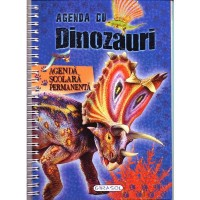 Agendă cu dinozauri. Agendă școlară permanentă