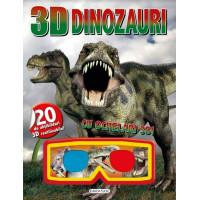 Carte 3D cu Abțibilduri Dinozauri
