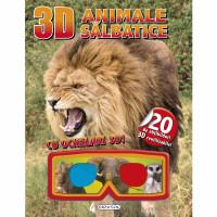Carte 3D cu Abțibilduri Animale Sălbatice