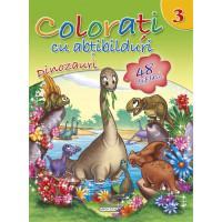 Colorați cu abțibilduri 3 - Dinozauri