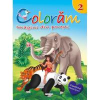 Colorăm 2: Imagini din povești (Conține abțibilduri)