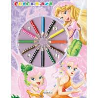 Coloreaza Zâne - Carte de colorat + creioane colorate