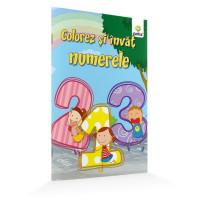 Colorez și învăț numerele