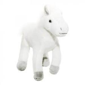 Jucărie de pluș cal alb 19 cm, Momki