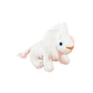 Jucărie de pluș leu alb, 14 cm, Momki