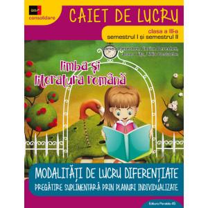 Limba și literatura română pentru clasa a III-a 2018 - 2019