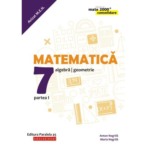 Matematică. Algebră, geometrie. Clasa a VII-a. Consolidare. Partea I (anul școlar 2019-2020)