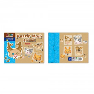 Puzzle Momki Mască animale