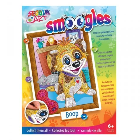 Set Creativ Smoogles - Catelusul Boop 25x34cm Sequin Art