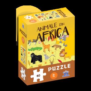 Animale din Africa: Puzzle