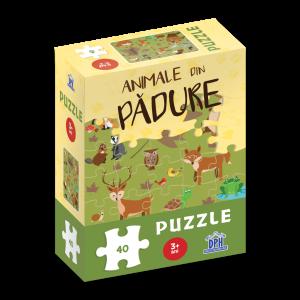 Animale din pădure: Puzzle