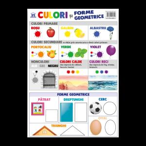 Culori și forme geometrice - Planșă