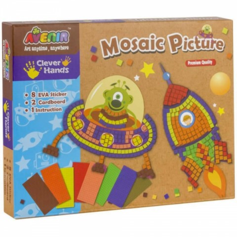 Joc creativ Momki Mozaic - Rachetă și navă spațială