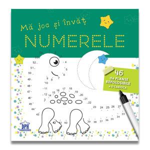Mă joc și învăț numerele - 46 de fișe refolosibile + o cariocă