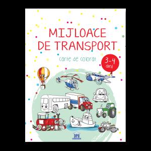 Mijloace de transport - 3-4 ani - carte de colorat