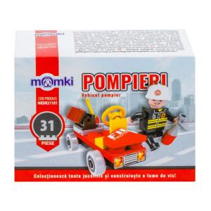 MomKi Cuburi Construcție 31piese - Vehicul pompier