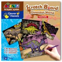 Set pentru sgraffito Momki Lumea dinozaurilor