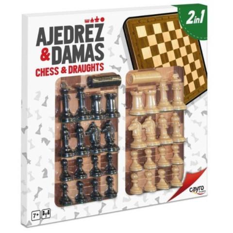 Tablă De Șah Și Dame Cu Accesorii 40x40x1 Cm, Cayro