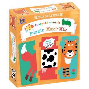 Creează animale - Puzzle Maxi-Mix