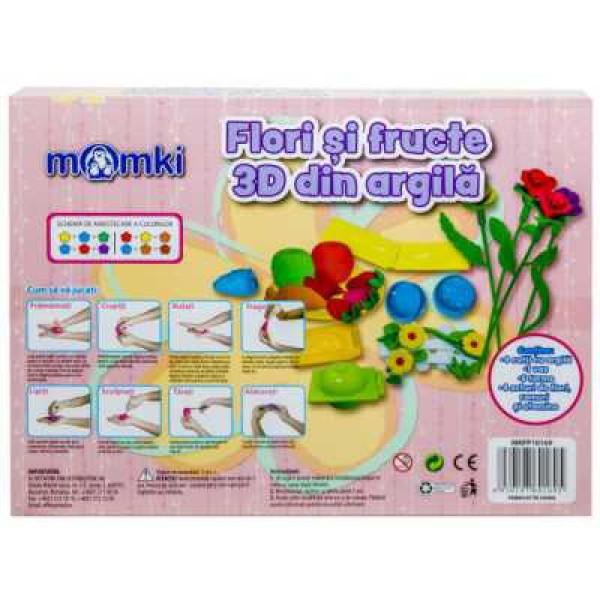Joc creativ MomKi flori și fructe 3D din argilă