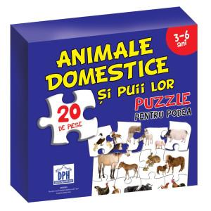 Puzzle pentru podea - Animale domestice - 3-6 Ani
