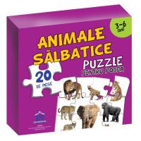 Puzzle pentru podea - Animale sălbatice - 3-6 Ani