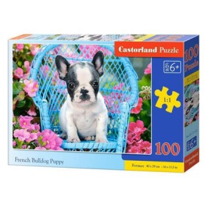 Puzzle Castorland French Bulldog Puppy, 100 piese