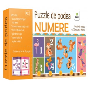 Puzzle de podea: Numere