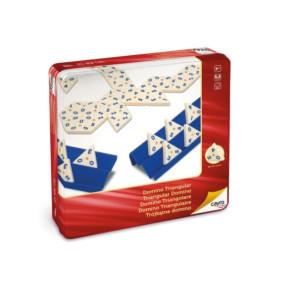 Joc Domino Triunghiular În Cutie Metalică, Cayro