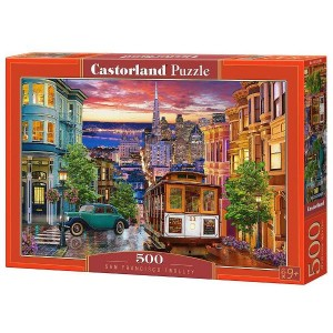 Puzzle Castorland San Francisco Trolley, 500 piese
