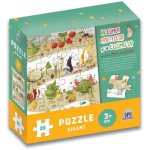 În lumea fructelor și a legumelor cu micul cațel de usturoi - Puzzle gigant