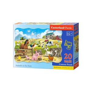 Puzzle Castorland - Farm Animals, 20 piese XXL