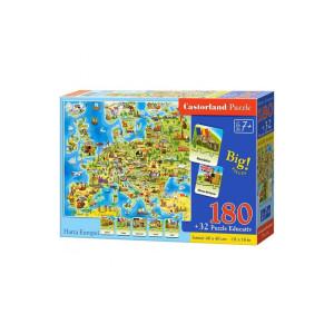 Puzzle educativ Castorland - Harta Europei, 180 piese