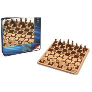 Joc De Șah Și Dame În Cutie Metalică Cayro